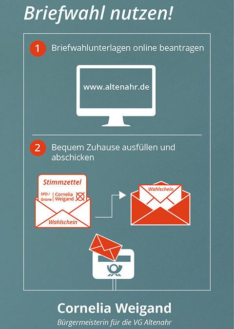 Briefwahl nutzen für die Wahl der Bürgermeisterin in der VG Altenahr