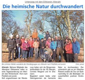 Bürgermeisterkandidatin Cornelia Weigand auf Tour mit dem Eifelverein Altenahr