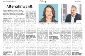 Interview mit Bürgermeisterkandidatin Cornelia Weigand im Wochenspiegel